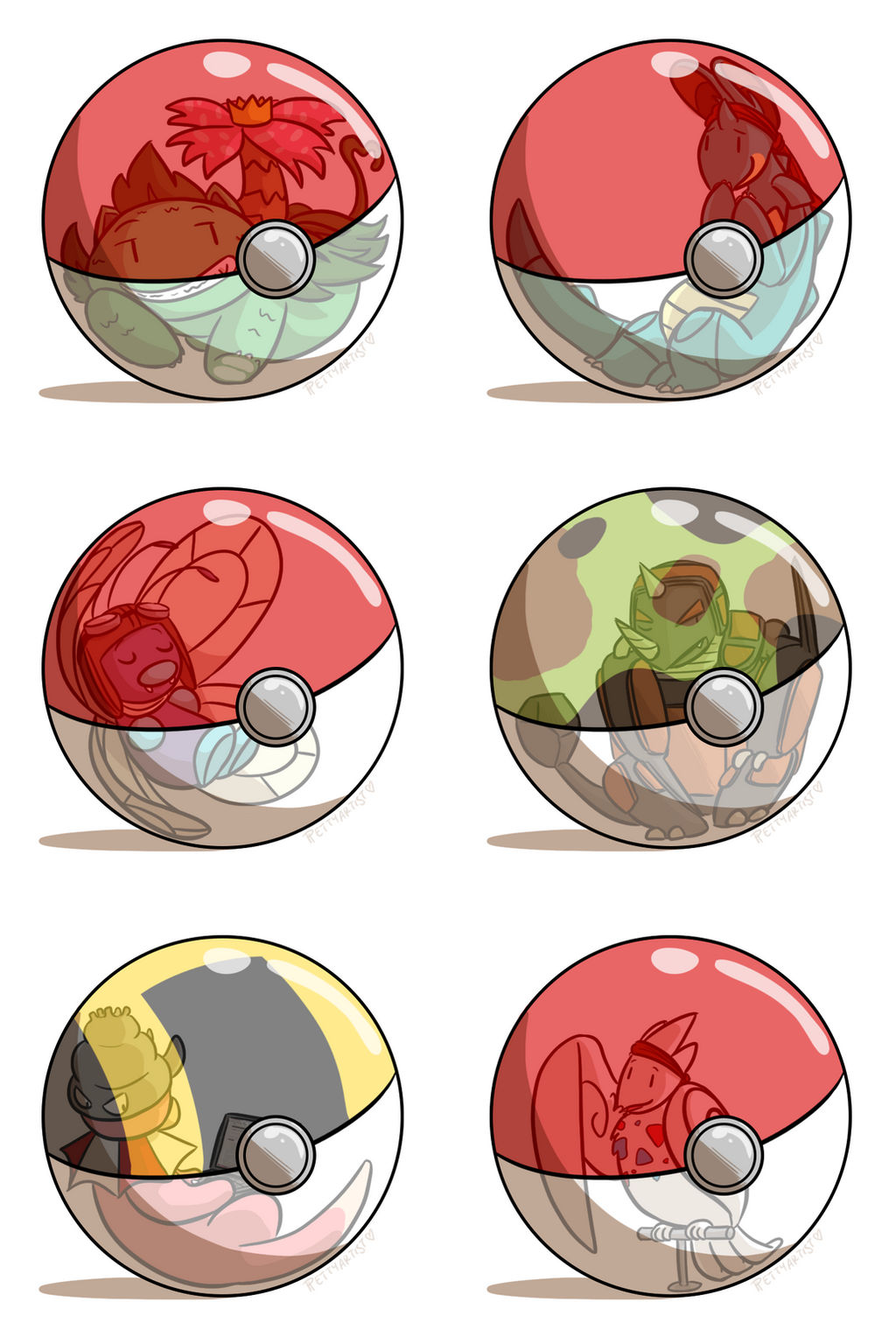 Petty Nuzlocke Challenge-- Pokeball Meme LG ed. by pettyartist