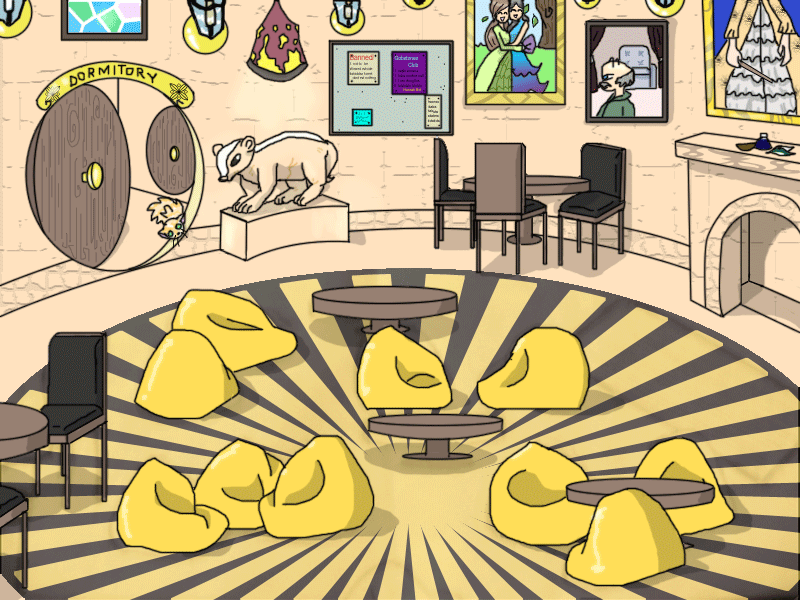 Hufflepuff Common Room By Tempestfrost On Deviantart