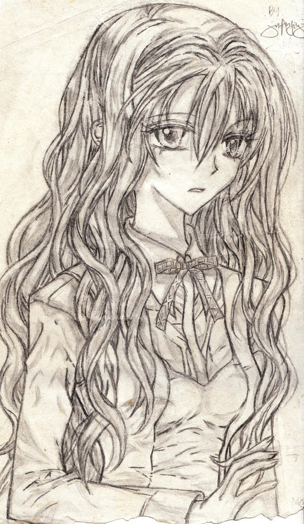images how to draw anime girl curly hair