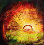 .:-Art Trade-Lola-in-the-Black-Sunset Landscape-:.