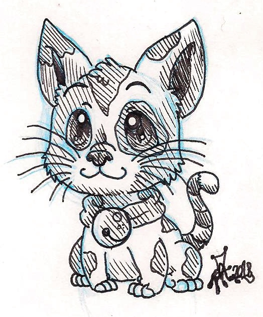 .: - Chibi cat for Briana- :. by PrideAlchemist7