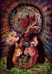 .: - Commission - Lucifer and Skye - :. by PrideAlchemist7