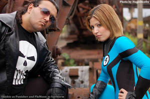 Invisible Woman and Punisher by plu-moon