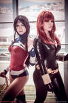 Wonder Woman and Black Widow Cosplay