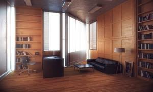 Salk Institue Day Light Interior - Louis I. Kahn