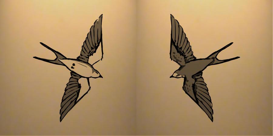 Swallow Tattoo design by ~VOLT-reborn on deviantART