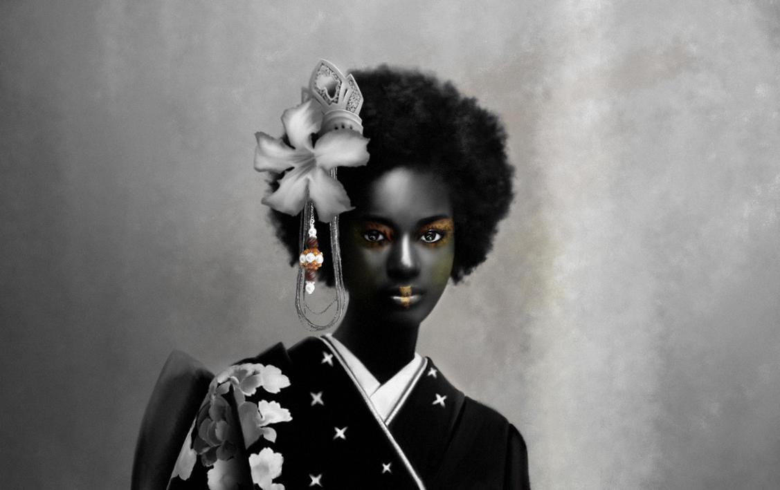 Afro Geisha by VOLT-reborn