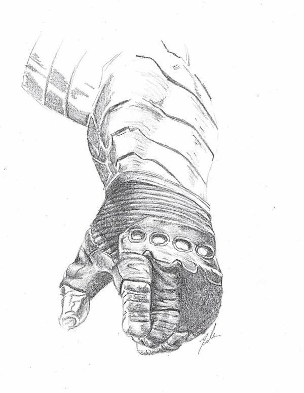 Pencil Winter Soldier Arm by Kyokyogirl on DeviantArt