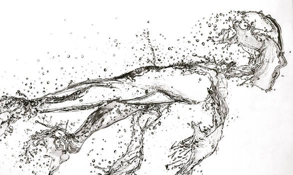 Running Water (Pencil)