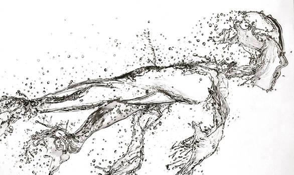 Running Water (Pencil)