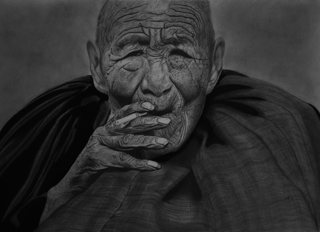 The Smoking Monk by Paul-Shanghai