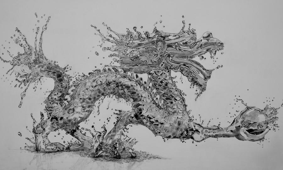Water Dragon (Pencil)