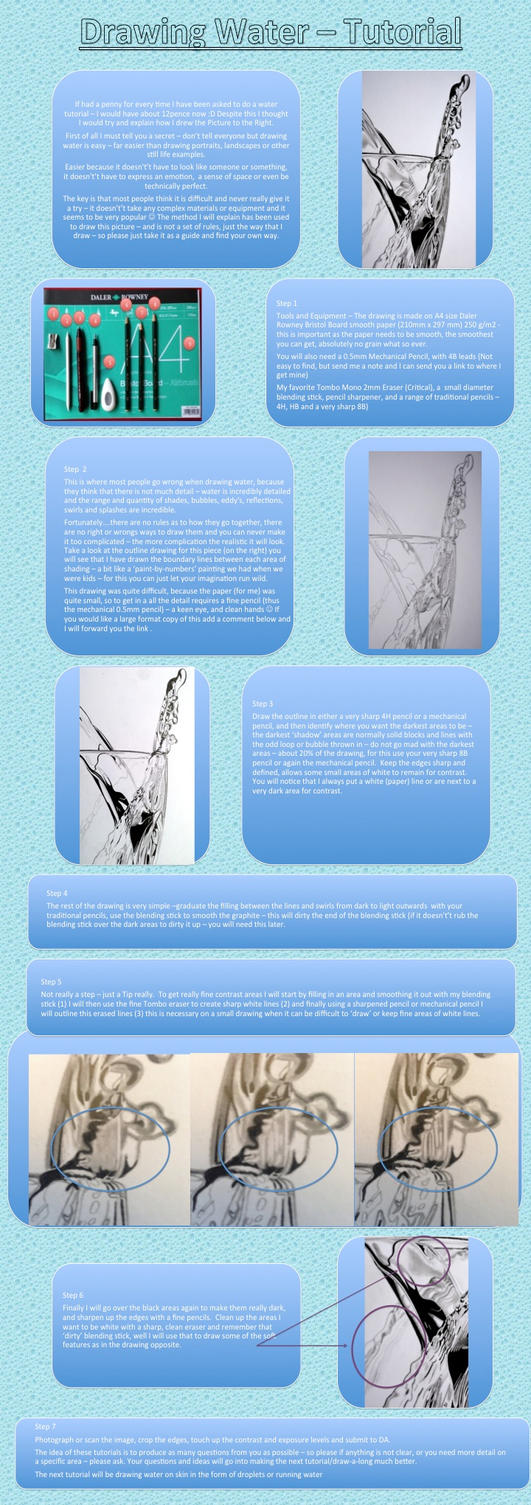 How I Draw Water in Pencil by Paul-Shanghai