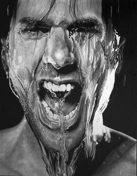 Splash Scream (Pencil Drawing)