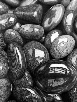 Wet pebbles (Pencil)