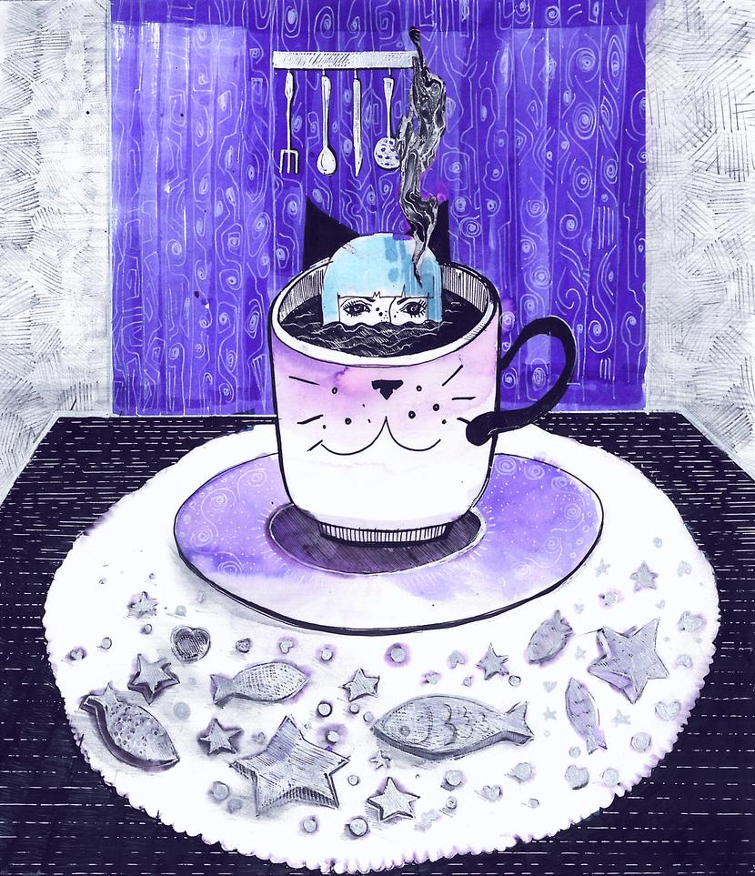 Coffee ninja! by fugusyndrome
