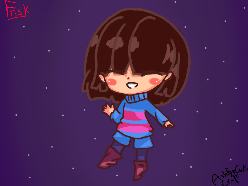 Frisk from UNDERTALE  by AshleyoCutieCraft