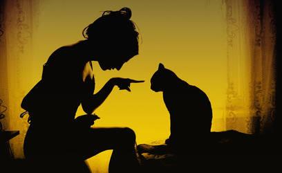Bad kitty by SandyManase