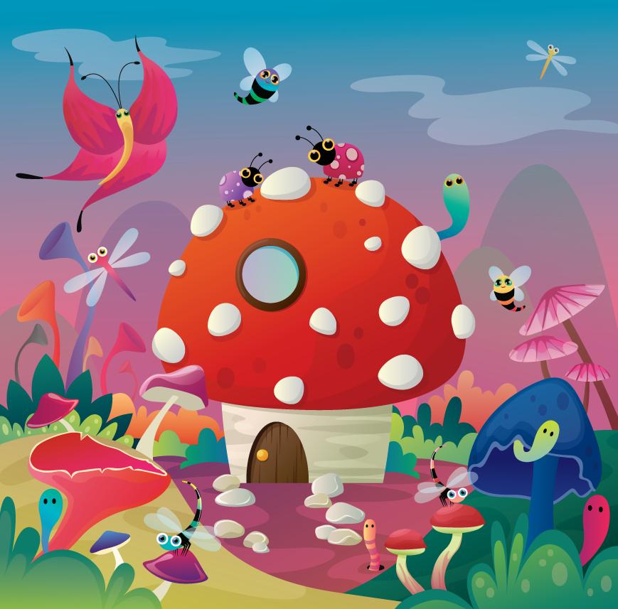 Mushroom House by Flufflepot