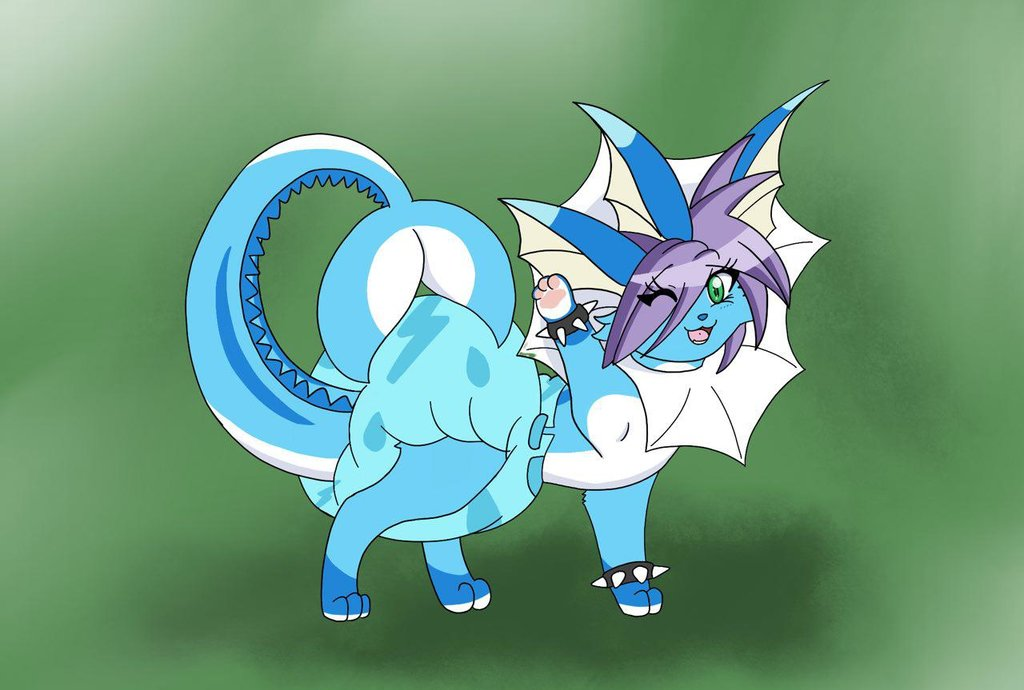 Suizuki the Diapered and Lovely Vaporeon by LuxrayBlast