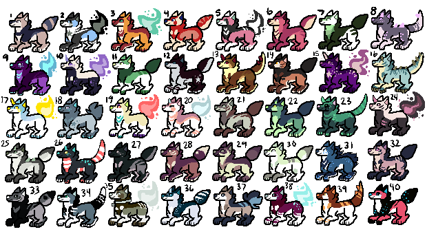 MS Paint Adopts #3: OPEN by SodAdoptables
