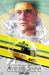 Ayrton Senna by R0mainT