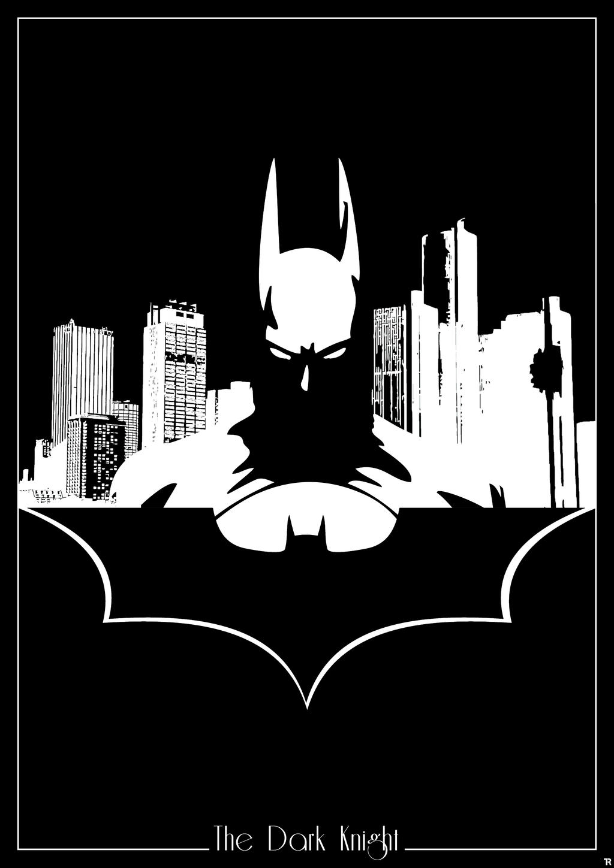 batman of gotham logo design clipart vector design