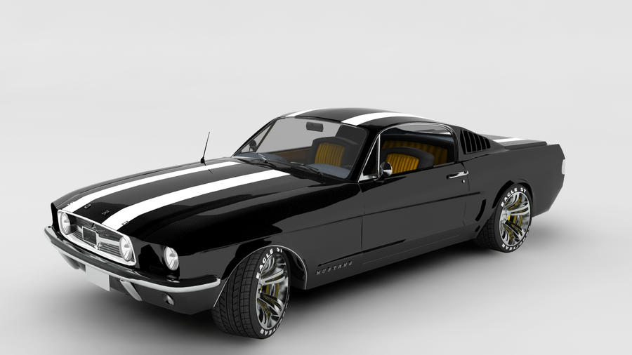 mustang fastback 65 updated by capraruconstantin on deviantart. Black Bedroom Furniture Sets. Home Design Ideas