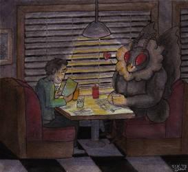 Mothman's Hot Date by six-jen