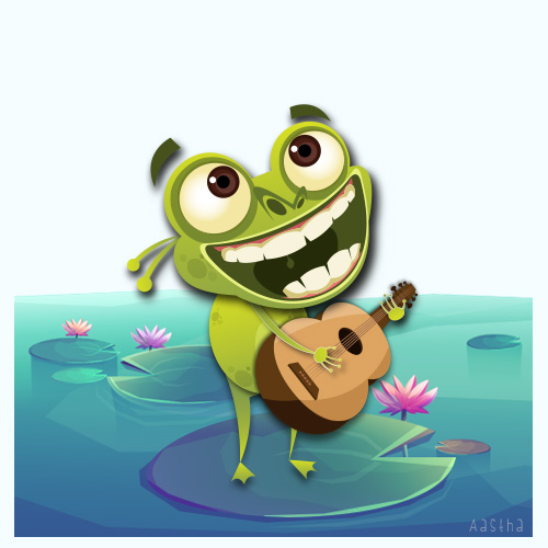 Frog Sticker by aastusharma