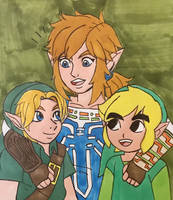 Link Squad by angry-toon-link