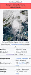BREAKING NEWS: Michael now a Category 5! by Nicholas75