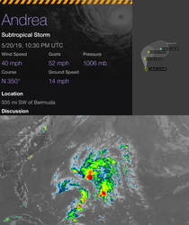 BREAKING: Subtropical Storm Andrea has formed.  by Nicholas75