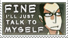 Stamp: Talk to Myself by onecoolc