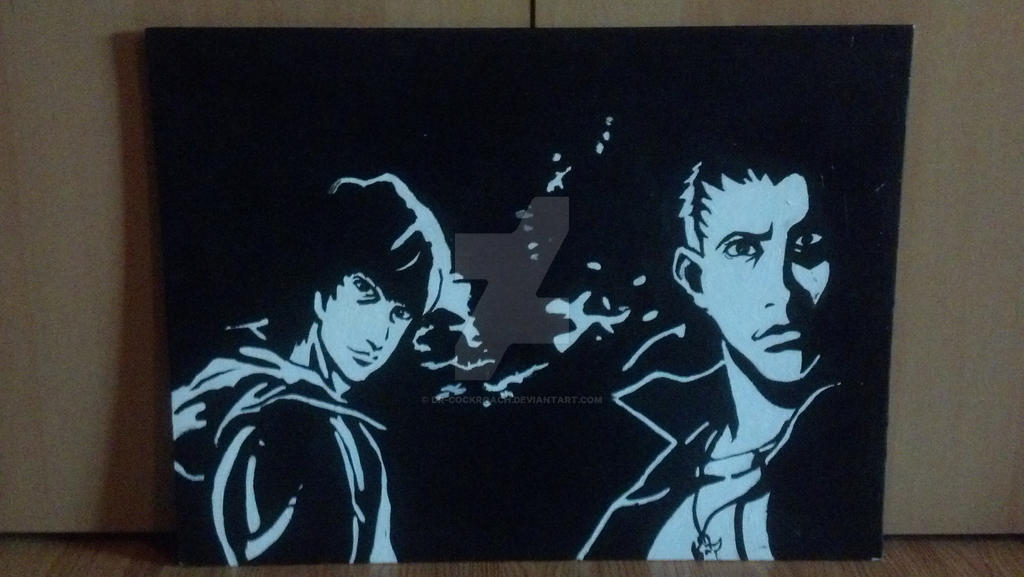 Stencil Art Anime Winchesters By Dr Cockroach On Deviantart