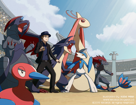 Commission: Pokemon Stadium Battle