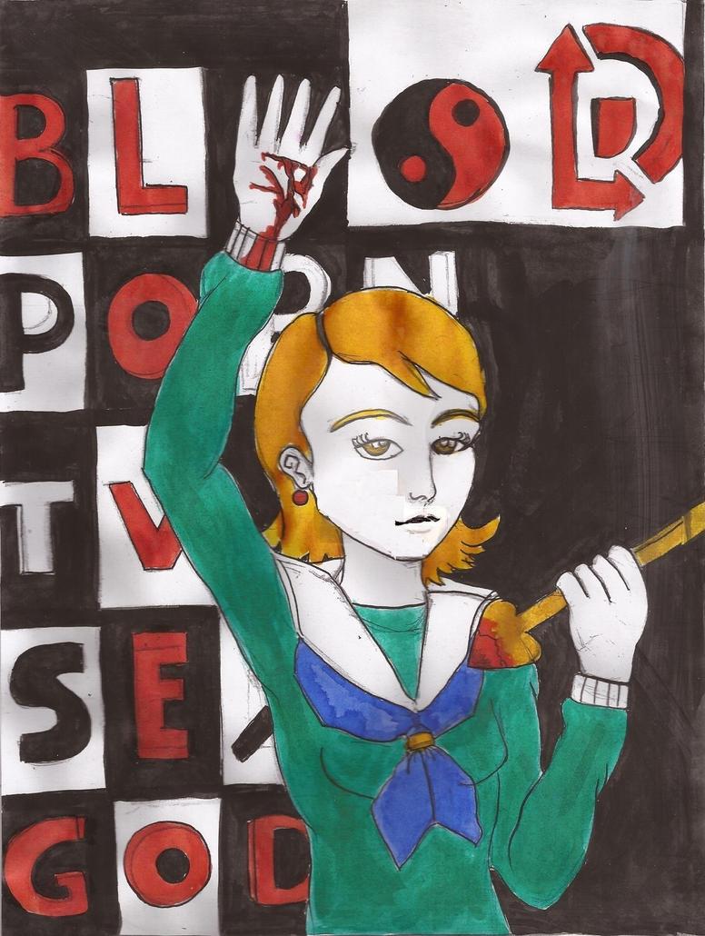 Blood, Love, God (INKS + COLOR) by Cuestionador