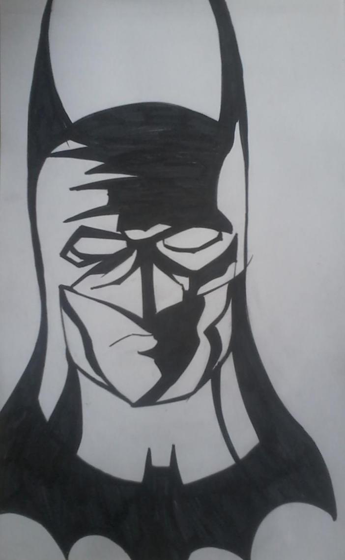 Dark Knight of Gotham City Sketch by Cuestionador