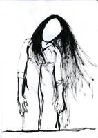 SKETCH 008: FACELESS GIRL by Cuestionador