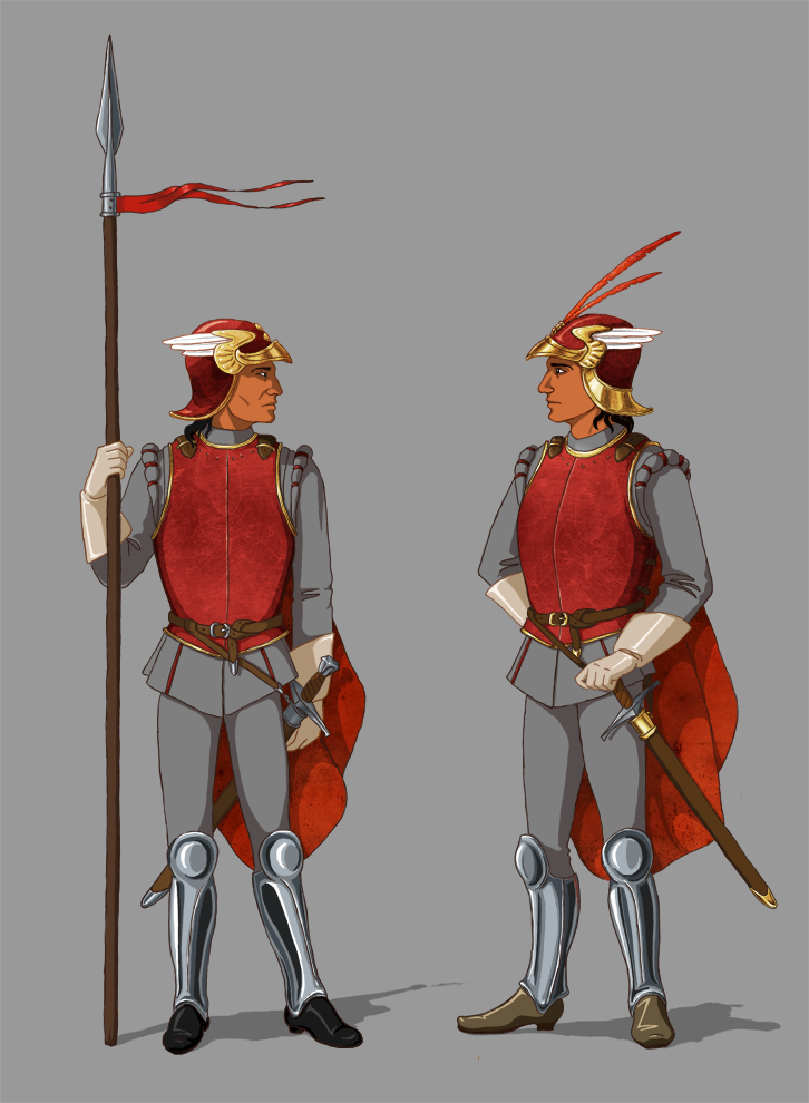 Mayener Winged Guards by Pobrodiaga
