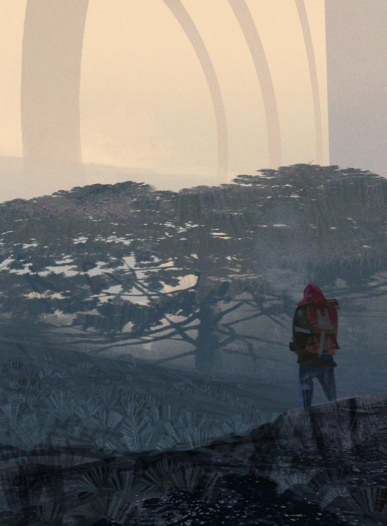 Misty Hill by HughEbdy