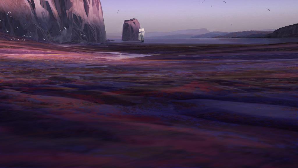 16:9 (3) - Purple Beach by HughEbdy