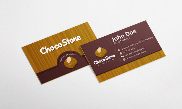 Free chocolate business card design template by graphicsparty on free chocolate business card design template by graphicsparty colourmoves