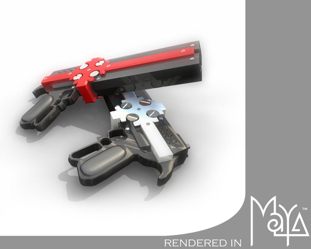 Gungrave Guns - final model by animepimp on DeviantArt Gungrave Cerberus Guns