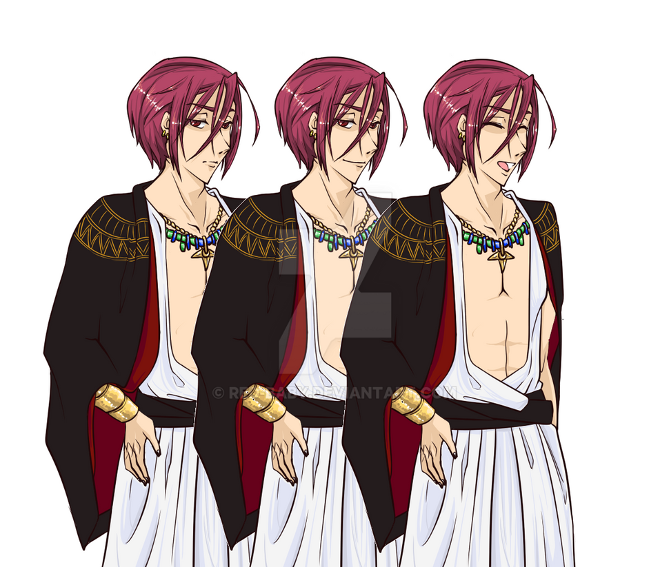 Fanart: Rin Matsuoka [Free!] Character sprites 01 by Red-Baby