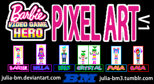 Barbie Video Game Hero Pixel Art By Julia Bm On Deviantart