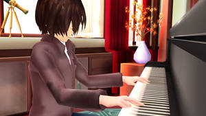 (MMD: DDLC) Playing The Piano by bestmovies7819