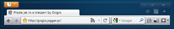 Firefox 4 - old style toolbar by GrzegorzJZD