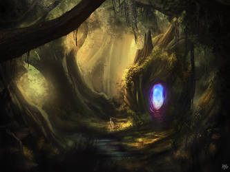 Forest Portal by PieterSneep