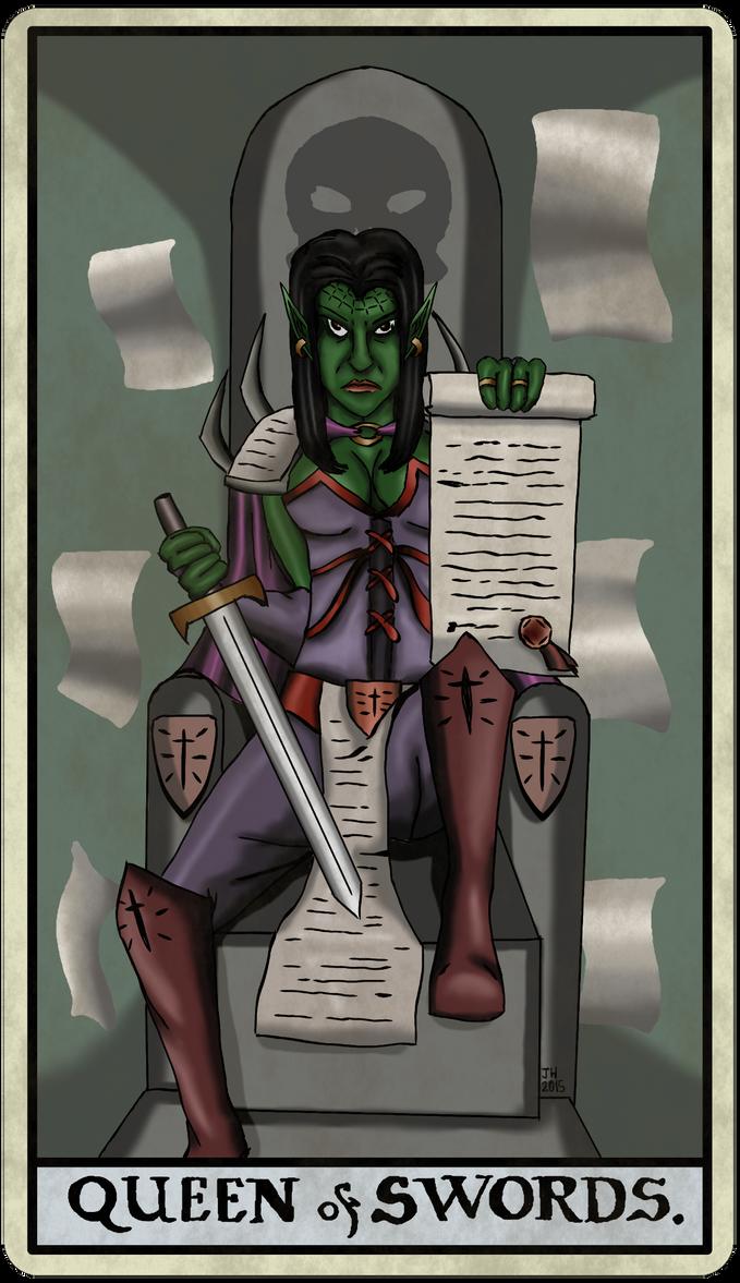 Zantir Xanderfel Queen of Swords by ElPresedente